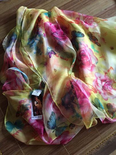 羚羊早安  春夏百搭海滩巾丝巾长款女士雪纺沙滩巾围巾披肩两用 sj606-浅咖 晒单图