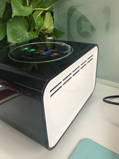 森米(samme) S201小型桌面空气净化器 卧室书房 除雾霾除味除甲醛杀菌办公室氧吧 黑色 晒单图