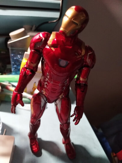 迪士尼漫威复仇者联盟儿童玩具钢铁侠玩偶模型关节可动办公桌摆件卡装7寸 晒单图