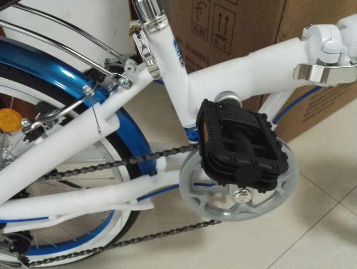 永久自行车 7速20寸彩配折叠车 铝合金车架 男女式单车 YE2015 蓝色 晒单图