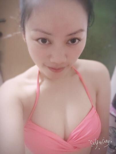 NPPAR 韩版泳衣女三件套大码小胸聚拢钢托显瘦罩衫 比基尼遮肚保守温泉游泳衣 沙滩度假 A款-偏小一码 XL 晒单图