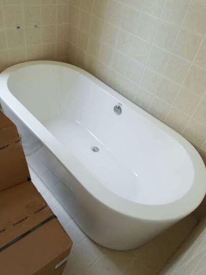 沃特玛(Waltmal) 亚克力浴缸独立式欧式浴缸浴盆铜下水1.5米1.7米1.8米 空缸不带龙头 约1.7米 晒单图
