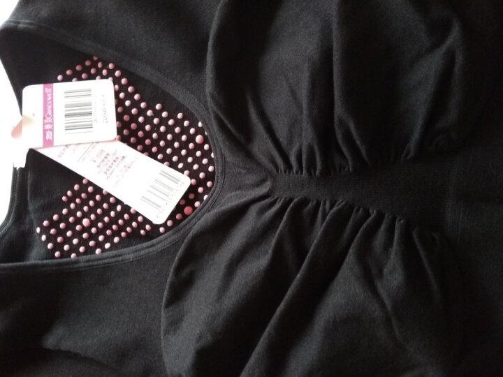 婷美 美体修形舒适保暖衣保暖套装QE5549 黑色 F均码 晒单图