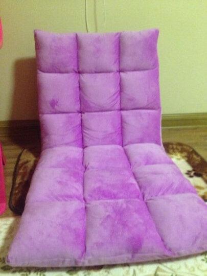 懒人沙发榻榻米坐垫单人小沙发折叠椅床上靠背椅飘窗椅懒人沙发椅 折叠拆洗床上靠背地板椅 紫色 晒单图