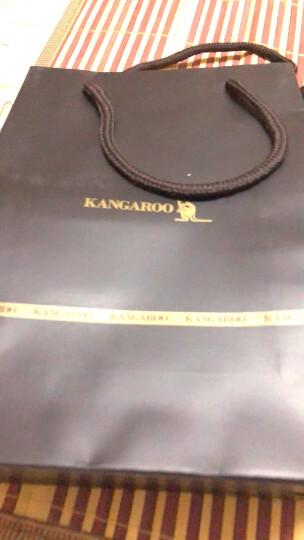 袋鼠(KANGAROO)钱包男长款真皮拉链男士手包软牛皮手拿包大容量商务男包 啡色 晒单图