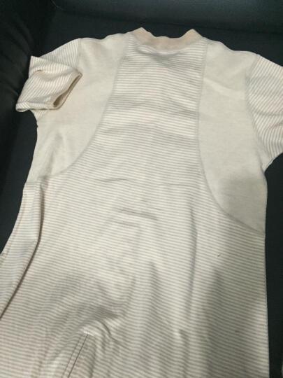 贝贝艾 天然彩棉婴儿睡袋春夏季薄款婴幼儿宝宝夏天睡袋可脱袖分腿式儿童小孩子睡袋防踢被 天然棕色(单层七分袖款) L码(适合身高90-110厘米) 晒单图