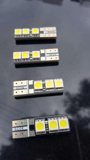 SCOE通用LED示宽灯T10LED示廓灯W5W汽车小灯改装耐高温超高亮12V汽车灯泡冰蓝 解码T10 27灯 纯红 一只 晒单图