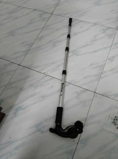顿巴纵队 户外登山杖滑雪装备伸缩减震登山杖便携徒步健走杖 拐杖110cm 暗黑使者 晒单图