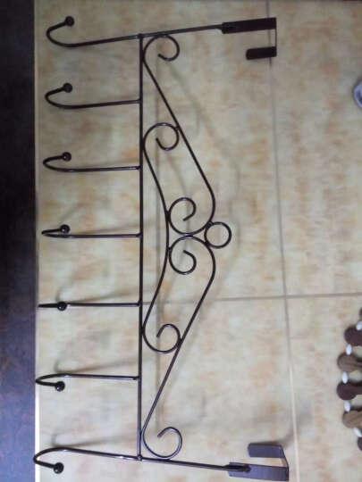 凤全创意铁艺门后挂钩无痕粘钩 厨房衣架挂衣钩衣服壁挂免钉衣挂 古铜色(中国结) 晒单图