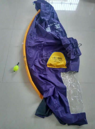 正招气囊式加大加长助动车摩托车雨披 电动车雨衣 双人428紫罗蓝+充气筒 均码 晒单图