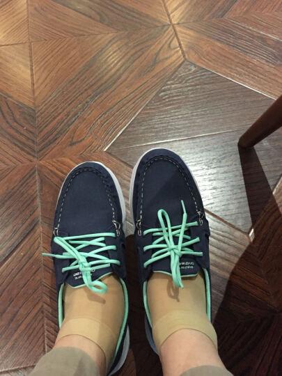 斯凯奇(skechers)潮流帆布鞋女 舒适低帮休闲鞋 系带豆豆鞋健步帆船鞋13563 蓝绿色 36 晒单图