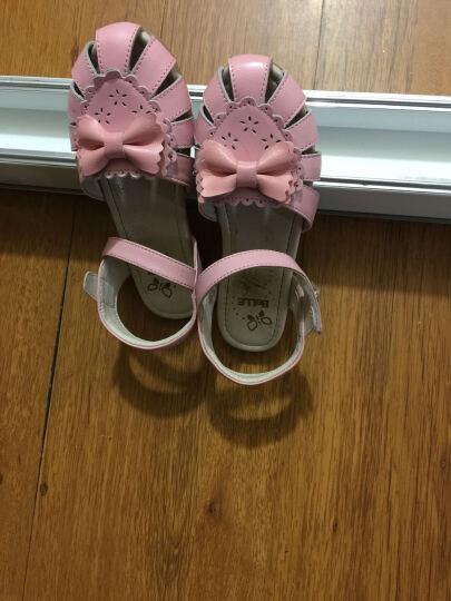 百丽Belle童鞋17新款儿童凉鞋女童时装凉鞋包头夏季休闲鞋沙滩凉鞋 粉色(5-10岁可选) 31码/参考脚长197mm 晒单图