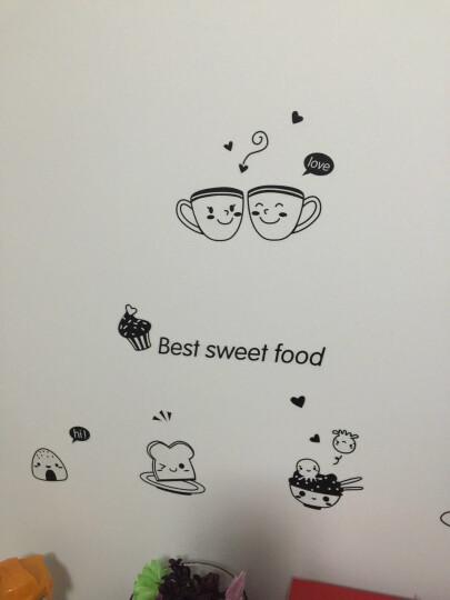 凡雅空间 可移除创意卡通墙贴纸家庭厨房柜门冰箱贴装饰贴画咖啡面包早餐贴 快乐西餐 中号 晒单图