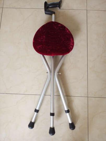 雅德 拐杖凳 老人三角拐棍椅手杖带座椅助行器 蓝色标准款(无灯) 晒单图