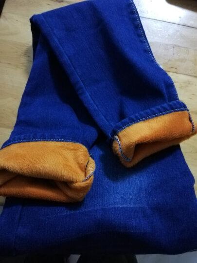 唛芭芘孕妇装春装孕妇裤春夏孕妇长裤子可调节外穿修身牛仔裤托腹裤36505 牛仔蓝(秋冬加绒) XL 晒单图