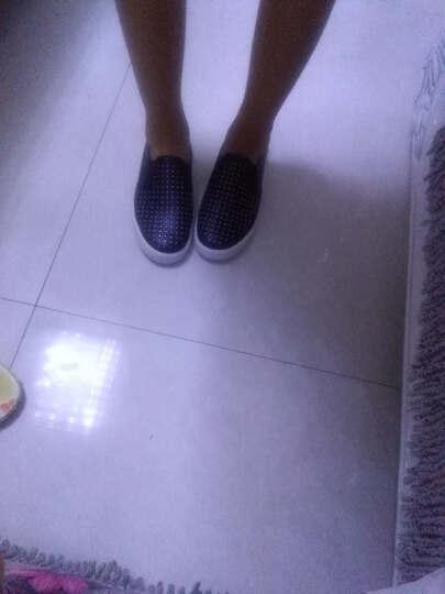 环球童鞋 女儿童休闲鞋男童女童皮鞋套脚懒人鞋韩版运动潮鞋 红色 38码/240外长/225内长 晒单图