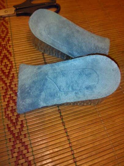 七秀阳光 水晶硅胶蜂窝立柱内增高鞋垫2-3.5cm双层可调节男女增高半垫 天蓝色 ZG双层约3.5cm 晒单图
