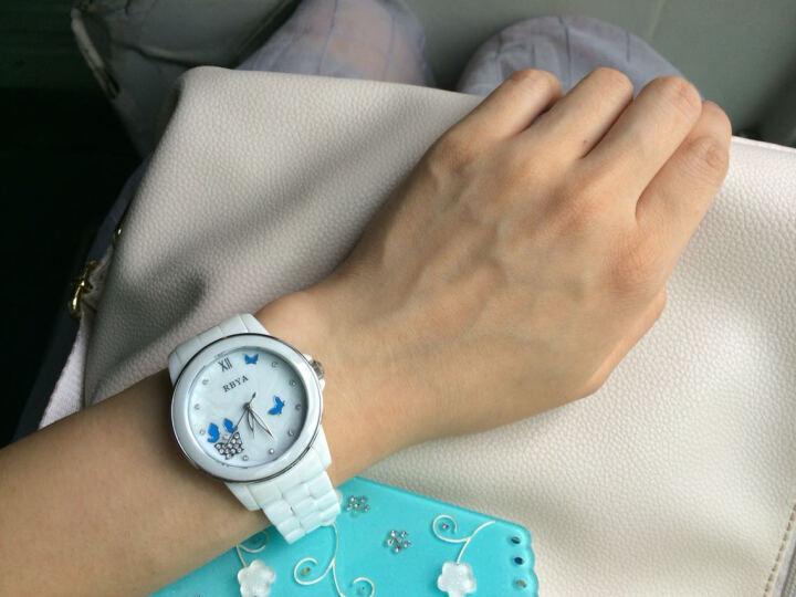 罗比亚(RBYA)手表白色陶瓷女表 时尚潮流石英表女款腕表女士表SC.O21 6021蝴蝶金HD 晒单图