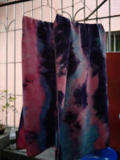 智汇 瑜伽铺巾 加厚加宽防滑吸汗瑜伽垫印花绒毛巾健身瑜珈毯子 扎染山茶-配网包 晒单图