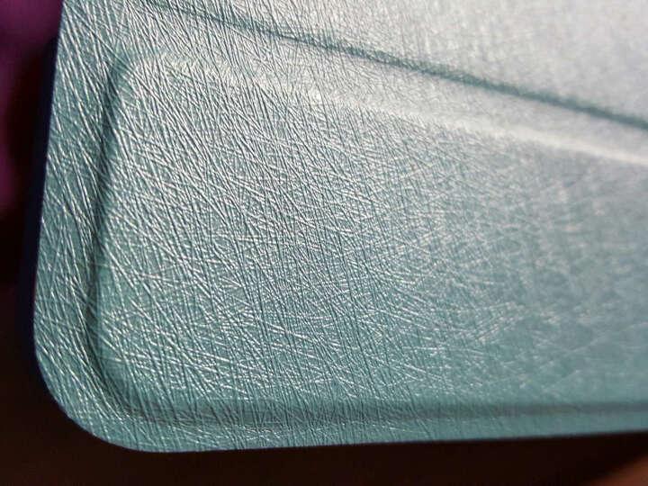 KOOLIFE 苹果iPad MINI4保护套 蚕丝纹皮套 休眠唤醒/三折皮套/支架皮套 iPad mini4 7.9英寸-蓝色 晒单图