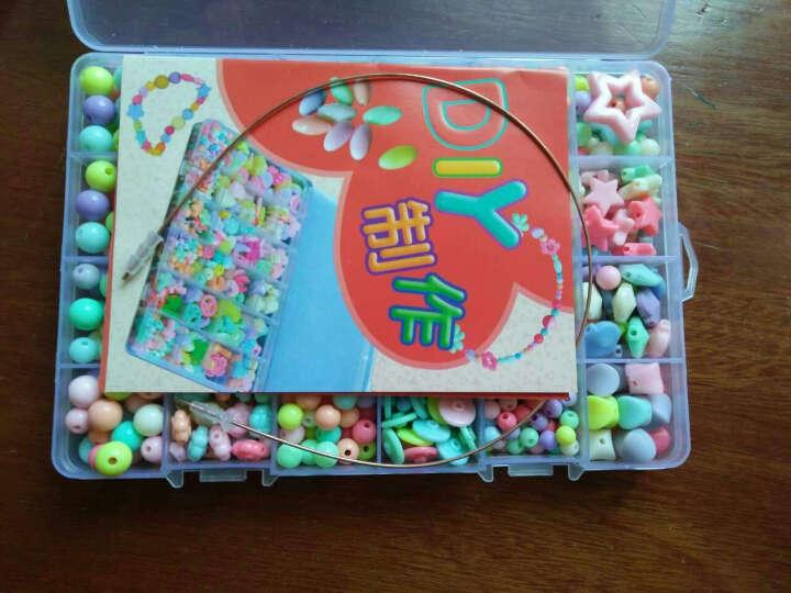 芙蓉天使 儿童手工制作DIY糖果色串珠散珠编织手链彩色早教手工玩具 24格小盒(约620粒) 晒单图