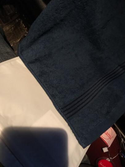 台湾进口akadama美国棉柔软纯棉吸水全棉加厚干发洗脸方巾面巾小毛巾 藏青 晒单图