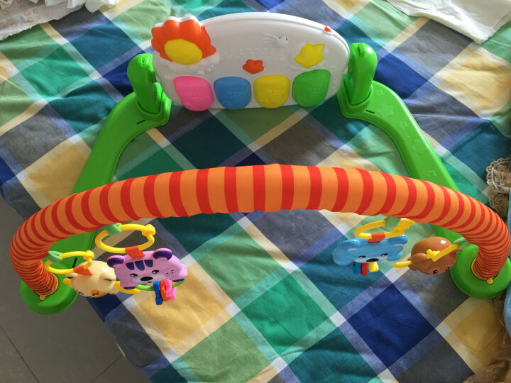 贝杰斯 婴儿健身架 早教益智0-1岁儿童脚踏钢琴音乐游戏毯宝宝玩具 7101畅销型充电款脚踏钢琴 晒单图