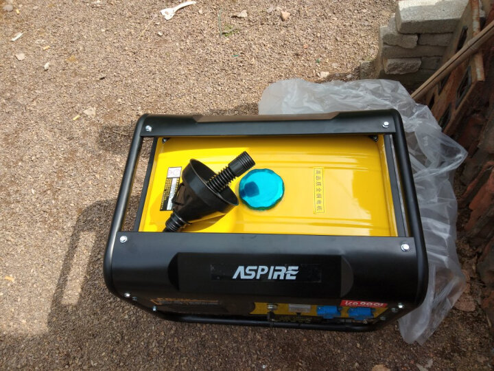ASPIRE 4/5/6/8KW小型汽油发电机 220V家用4千瓦单相220V发电机 新升级4kw电启动+烧汽油220v 晒单图