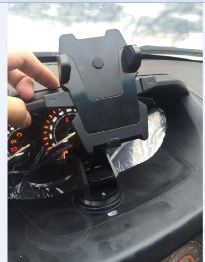 【京东超市】LEEIOO 车载手机支架 吸盘式多功能汽车手机支架 0106 黑色吸盘款 晒单图