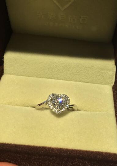 先恩尼钻石 心形裸钻 异形钻石戒指 婚戒定制 求婚心形钻戒 戒指空托 结婚戒指定制 女款 1.0克拉/F/VS1/GIA(现货闪发) 晒单图