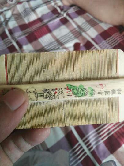 篦子梳齿密檀木梳子 密齿梳刮虱子卵梳去头屑梳密竹篦篦梳虱子密齿梳子 树脂蓖子拍5送1 晒单图