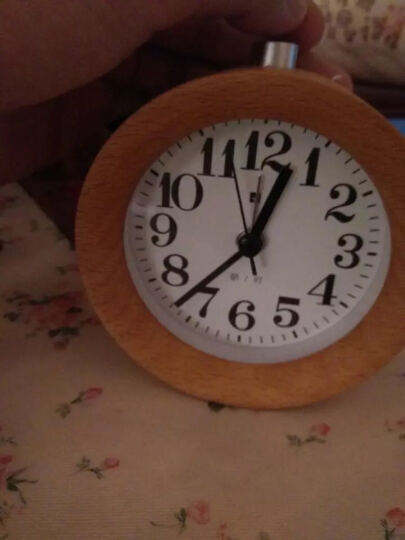 T-LAB'S  创意木头夜光静音闹钟 卧室床头钟 贪睡懒人小闹钟 IPOD银 晒单图