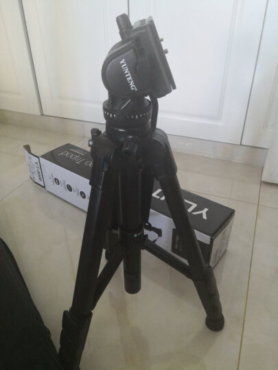 云腾(YUNTENG) VT-8008 微电影级专业大型三脚架云台套装 微单数码单反相机摄像机用 优质铝合金三角架黑色 晒单图