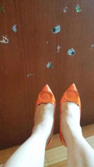 HLZ 2018春秋季新款时尚高跟鞋 女鞋OL职业高跟细跟浅口女单鞋-1850-6 橙色10Cm 37 晒单图