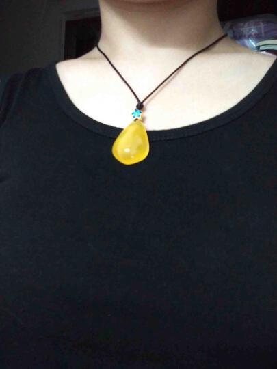 荔尚 珠宝 琥珀 (蜜蜡)吊坠 柠檬黄女款随形琥珀玉坠带证书 蜜蜡吊坠 琥珀吊坠 LH4229 晒单图