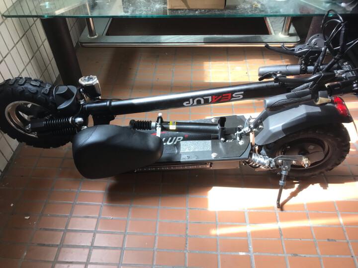希洛普(SEALUP) 锂电池折叠迷你电动车 城市便携电瓶车  电动滑板车 可折叠电动车电瓶车 Q9/国家3C电机/15.6AH /50-60km 晒单图