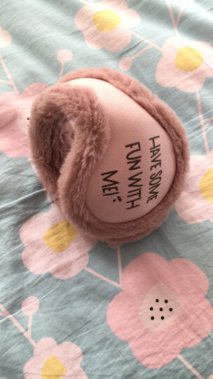 可折叠耳包男女生冬季可爱耳罩耳捂子耳暖皮毛一体保暖韩版耳套 粉色 晒单图