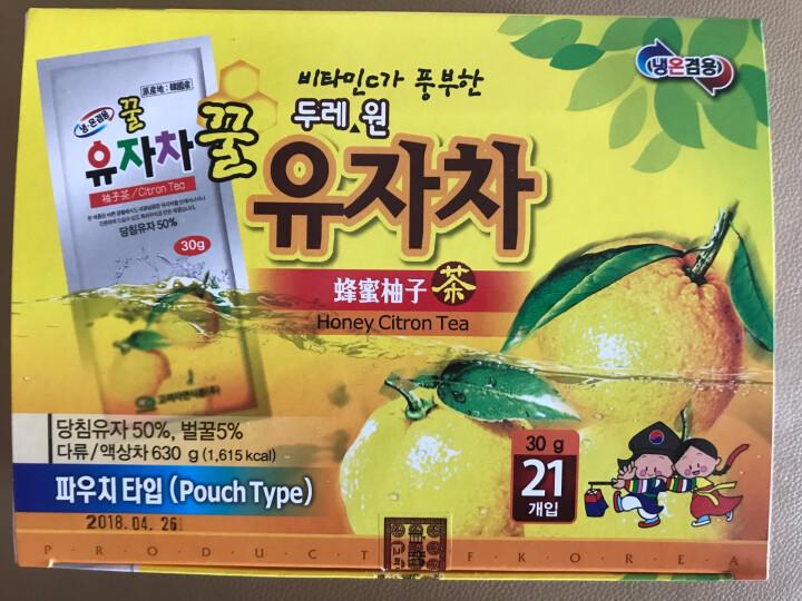 韩美禾韩国进口蜂蜜柚子茶630g(21袋)/盒 黄金柚子 袋装蜂蜜柚子茶便携条装 【1盒  暖心】 晒单图