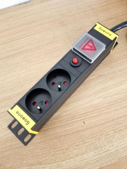 购旺 Gowone 欧标PDU机柜插座德标/法标电源插排工业插线板10A/16A欧式通用插头 德标1.5U  6位热插拔防雷滤波  D201 5米线 晒单图