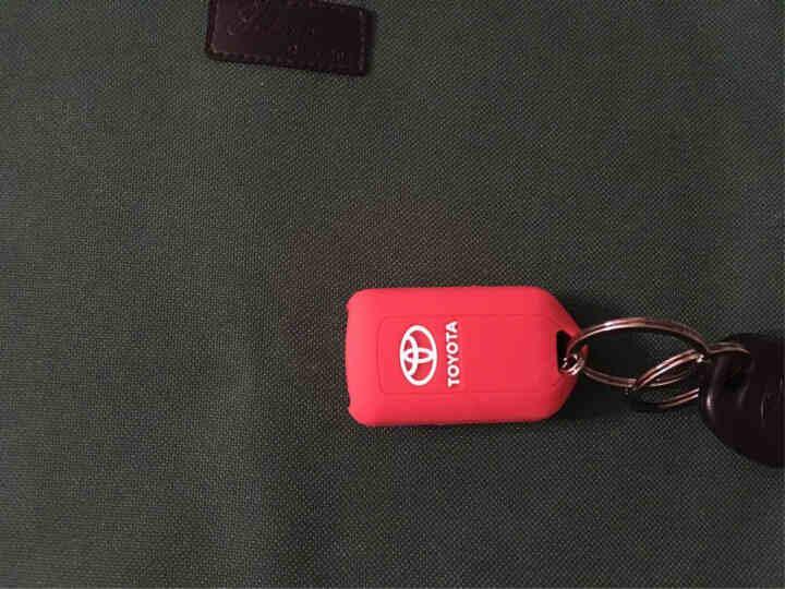 奥擎 丰田14-18新威驰致炫硅胶钥匙包套壳 汽车钥匙保护套专用 浅蓝色 晒单图