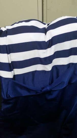 法莎罗儿游泳衣女连体保守女士泳装学生遮肚显瘦大码裙式平角温泉 黑色泳衣110-135斤(XXL) 晒单图