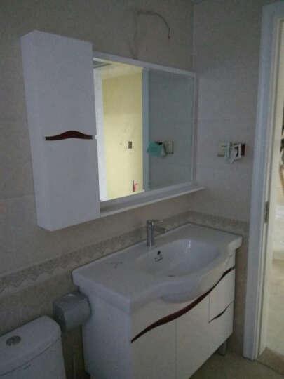 浪鲸浴室柜 实木悬挂BF6121 卫浴吊柜 卫生间洗手盆面盆多功能镜柜 钢琴烤漆套装 浴室柜+花洒1065+马桶400坑距 晒单图