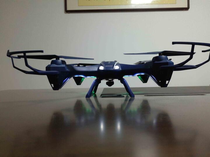优迪 遥控飞机大型专业航拍无人机高清FPV航拍器遥控玩具飞机四轴航模飞行器图传航拍无人机 (双电版)带200W摄像头+图传显示器 晒单图