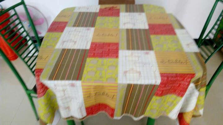 一朵 欧式田园格子韩式桌布防水免洗塑料餐桌布PVC台布防油茶几布包邮 曲边PVC汤姆的午餐 桌布152*152 晒单图