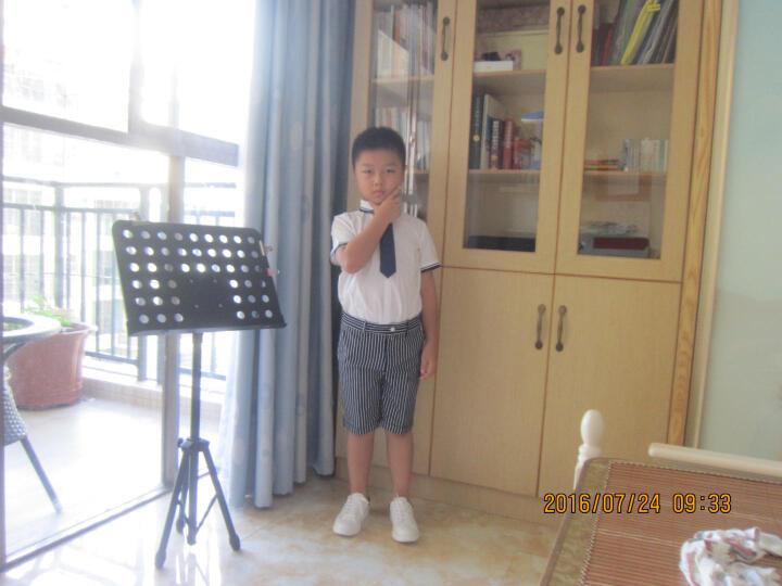 EYAS男童夏装套装短袖六一儿童演出服中小学生合唱服英伦主持人表演服钢琴花童礼服男童韩版 男童 120cm现货 晒单图