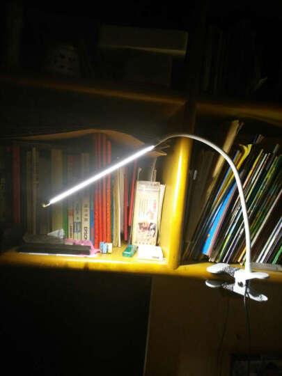 简意灯具 LED台灯夹子灯 夹灯 护眼学习 卧室床头灯工作办公台灯 可调光调色usb 白壳((调光-只有白光)) 送 适配器 晒单图