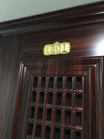 金属门牌号码 酒店宾馆房间门牌定制 小区别墅金属数字门牌号 金黄色-4位数(数字可更改) 晒单图
