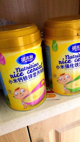 英吉利 婴儿辅食 钙铁锌味 小米粉 宝宝营养米糊 450g(6个月至36个月适用) 晒单图