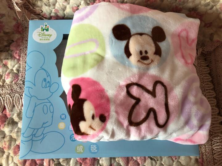 迪士尼宝宝毛毯子婴儿盖毯儿童法兰绒毯礼盒装DA745KP02V1490浅粉120cm 晒单图