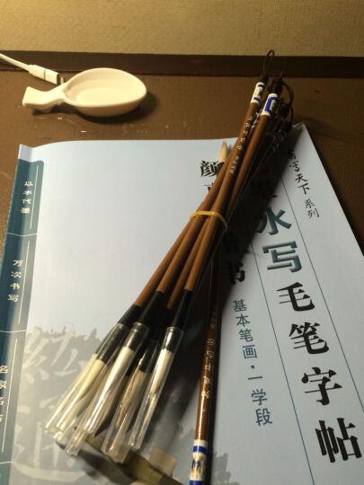 水写毛笔字贴 颜真卿楷书(套装共3册)(赠毛笔、水盘) 晒单图
